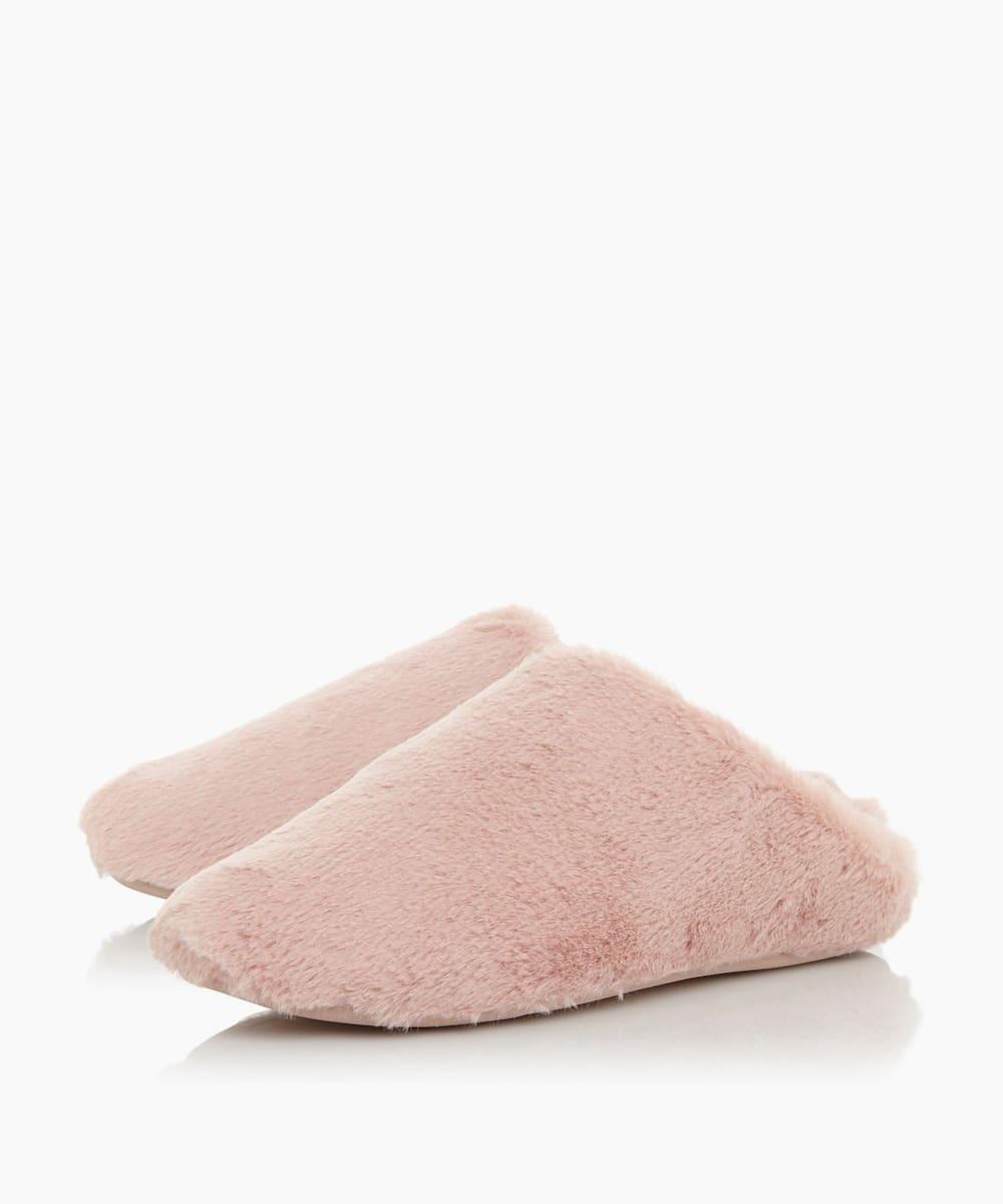 FURRY SLIPPER, Pink, medium