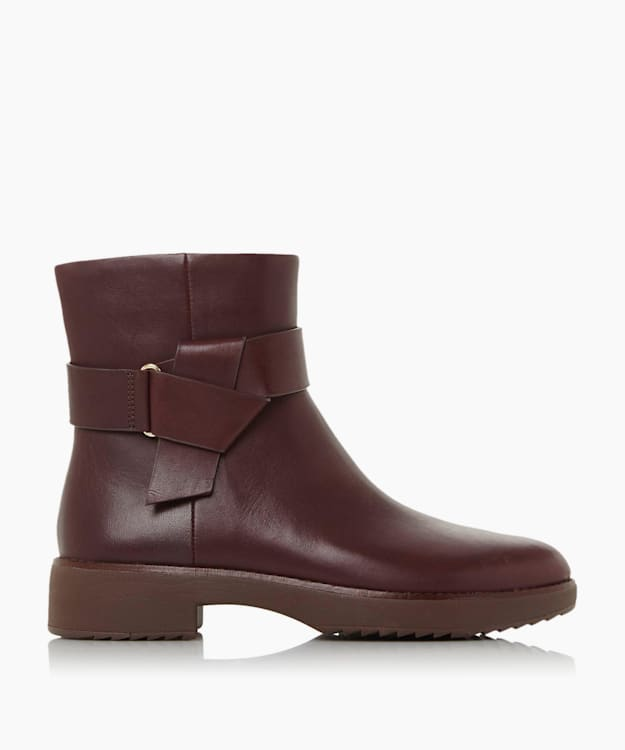 KNOT ANKLE - Burgundy