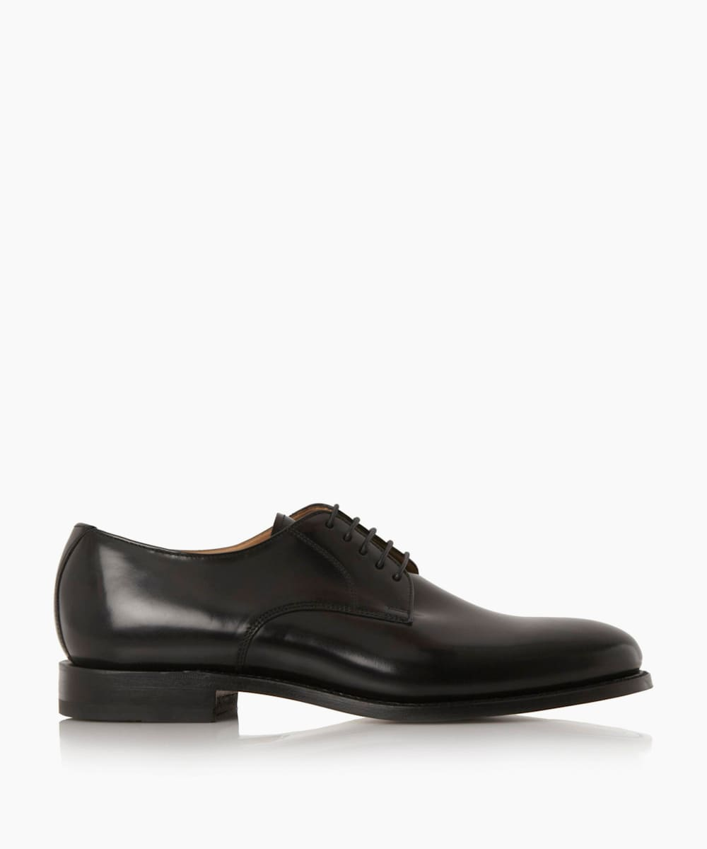 Leather Plain Toe Smart Gibson Shoes