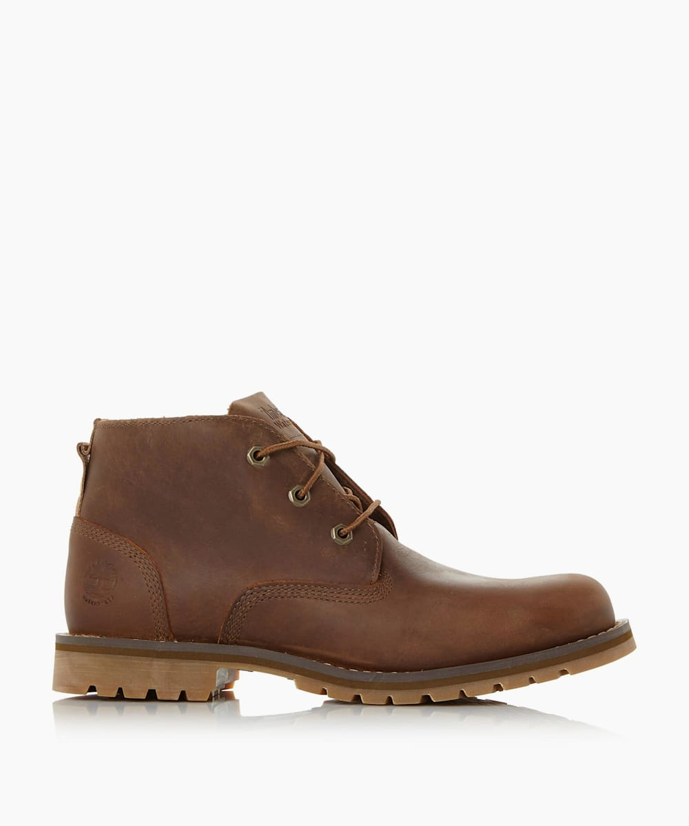 Cleated Sole Lace Up Chukka Boots