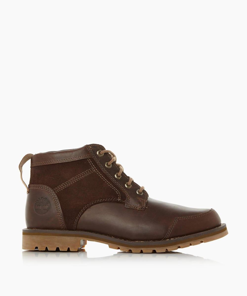 Mixed Material Chukka Boots