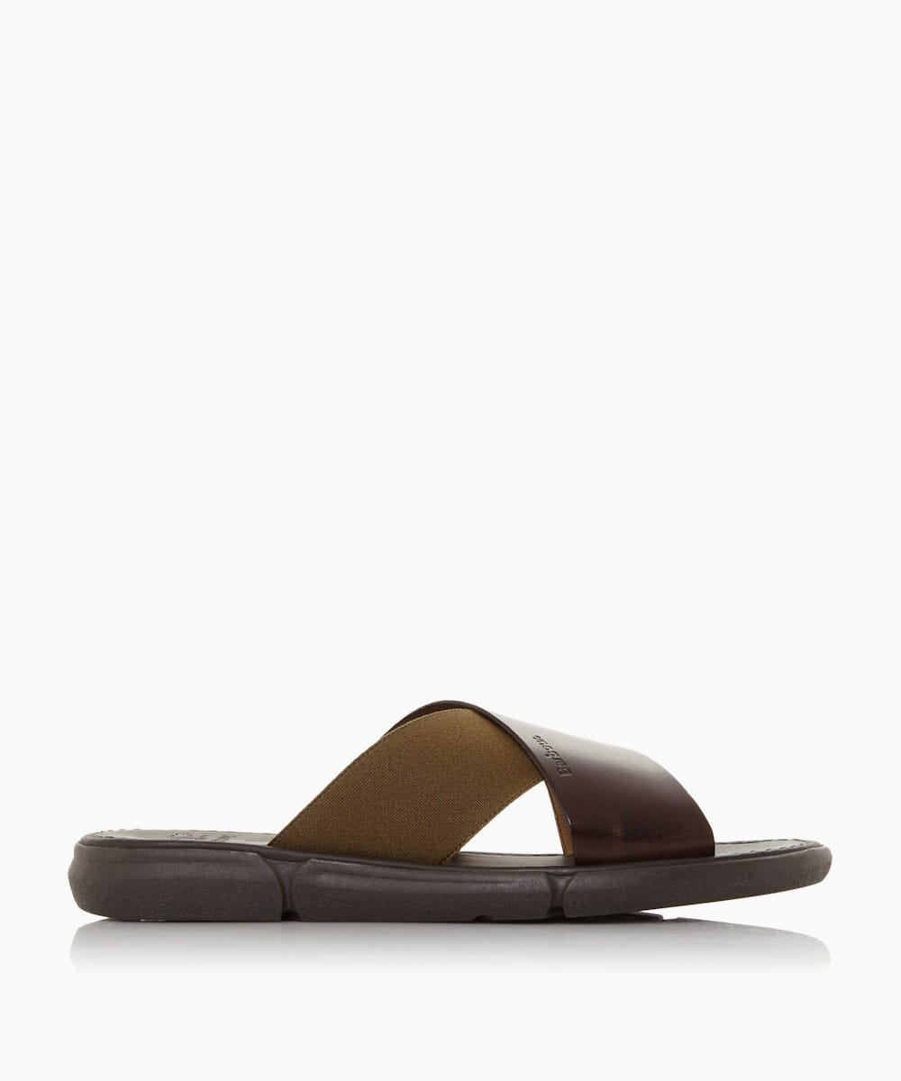 Leather Slider Sandals