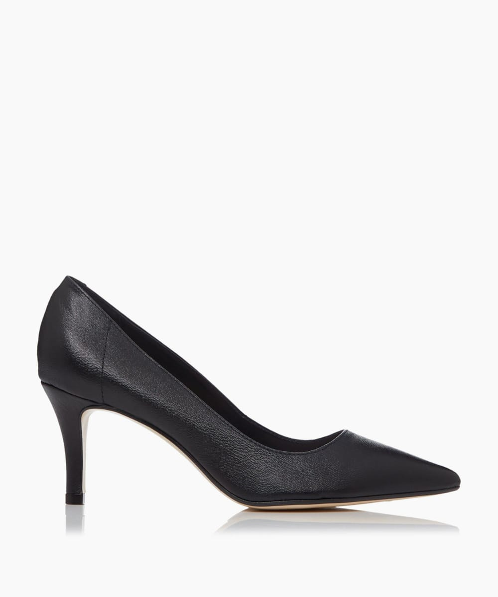 Unlined Comfort Point Mid Heel Court