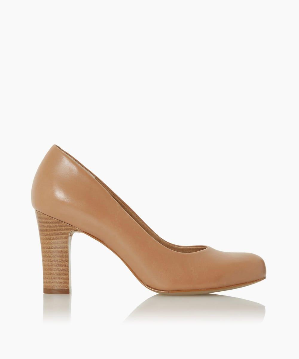 Comfort Mid Block Heel Court Shoes