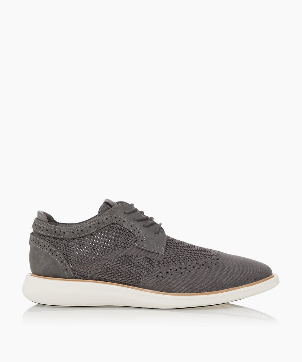Wedge Sole Lace Up Brogue Shoes