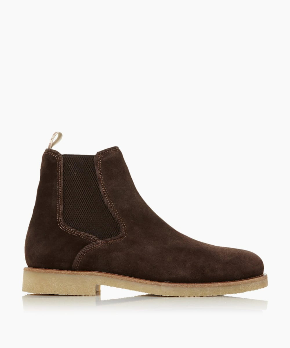 Rubber Sole Chelsea Boots