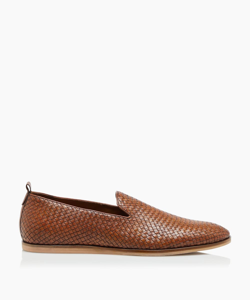 Woven Slipper Cut Loafers