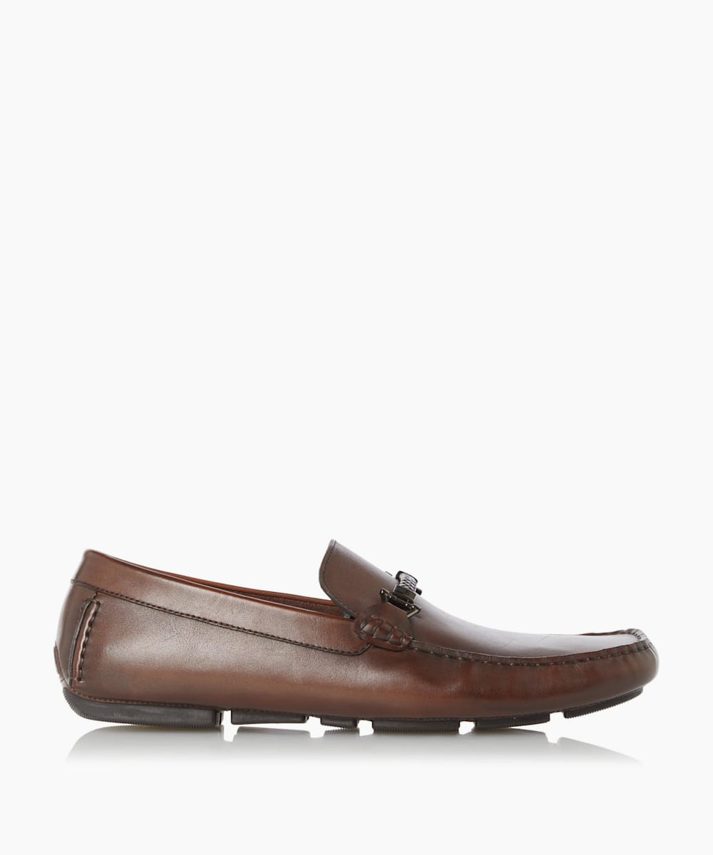Driver Moccasins With Woven Trim