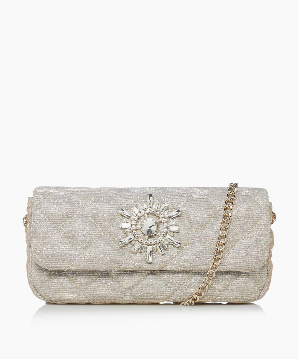 Diamante Trim Clutch Bag