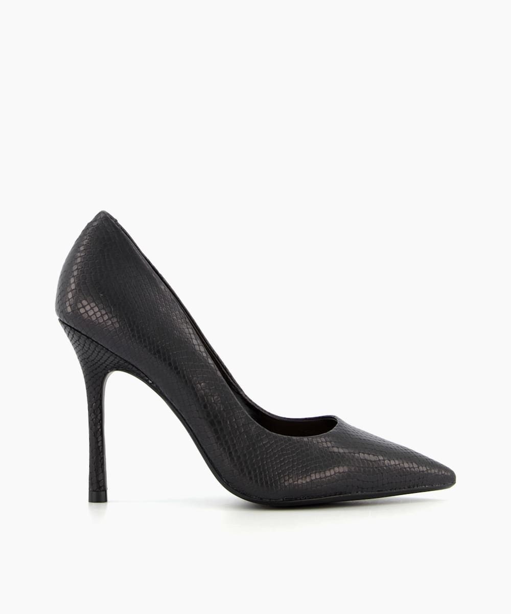Pointed Toe Mid Heel Court Shoes