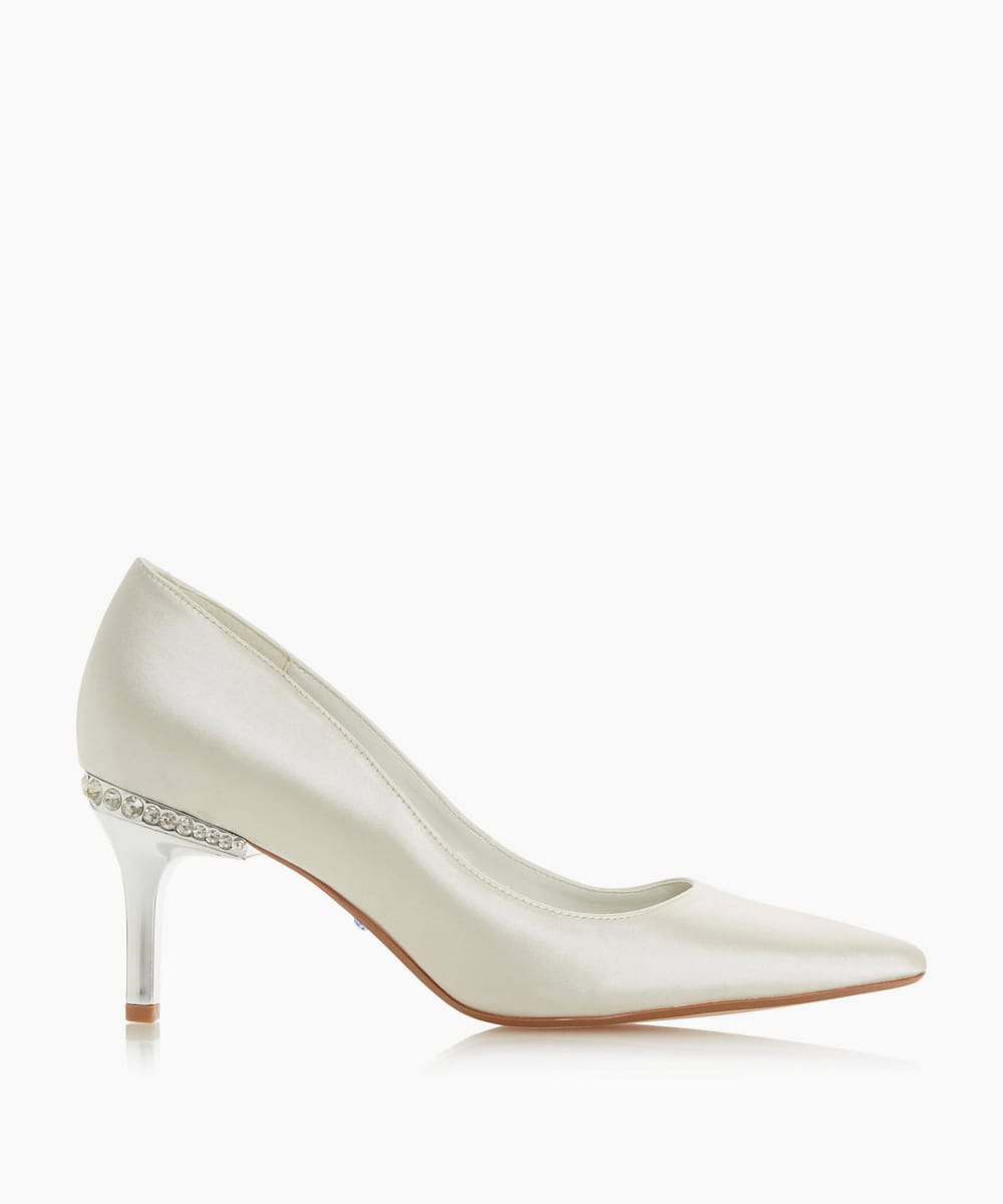 Jewel Heel Pointed Toe Court Shoes