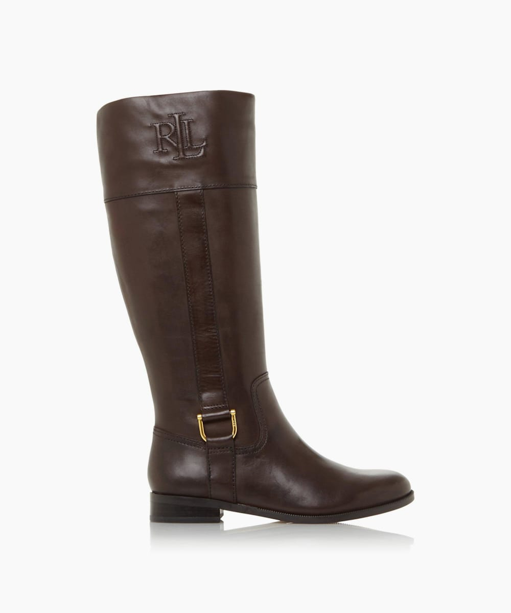 Buckle Detail Knee-High Rider Boots