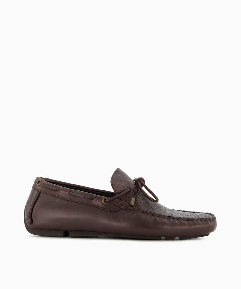Moccasin Front Tie Loafers