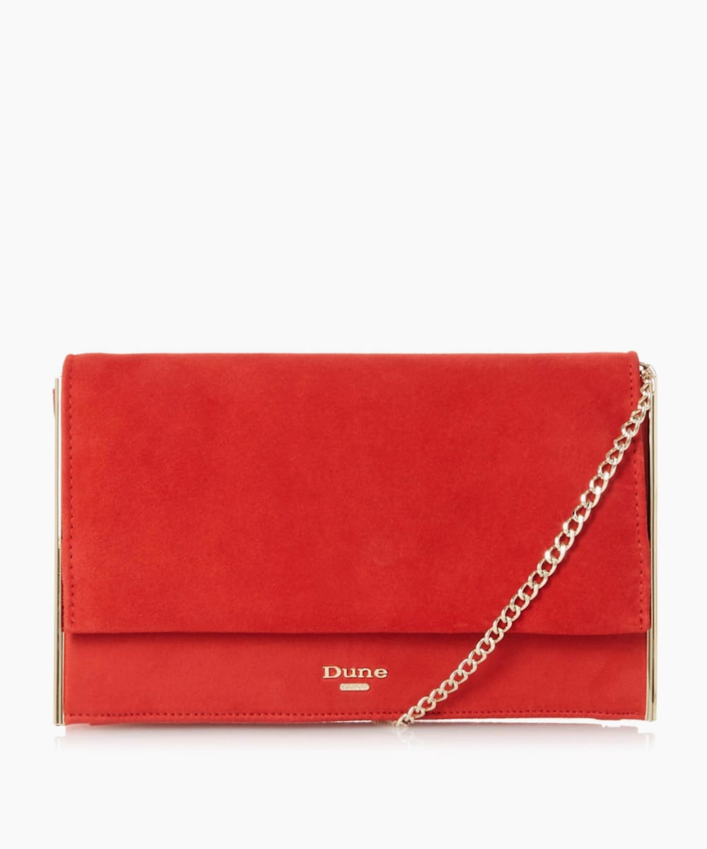 Metal Trim Clutch Bag