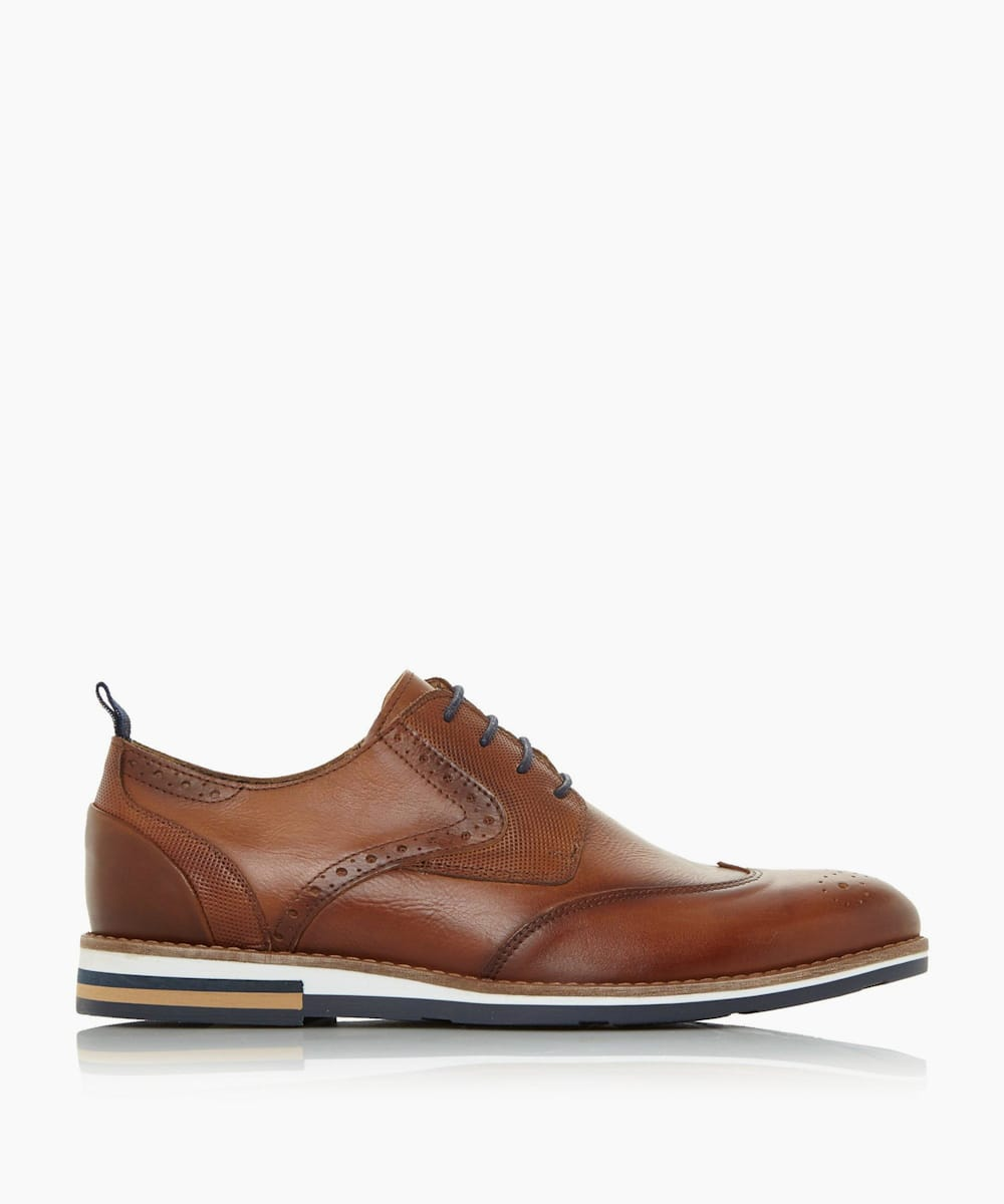 Wedge Sole Brogue Shoes
