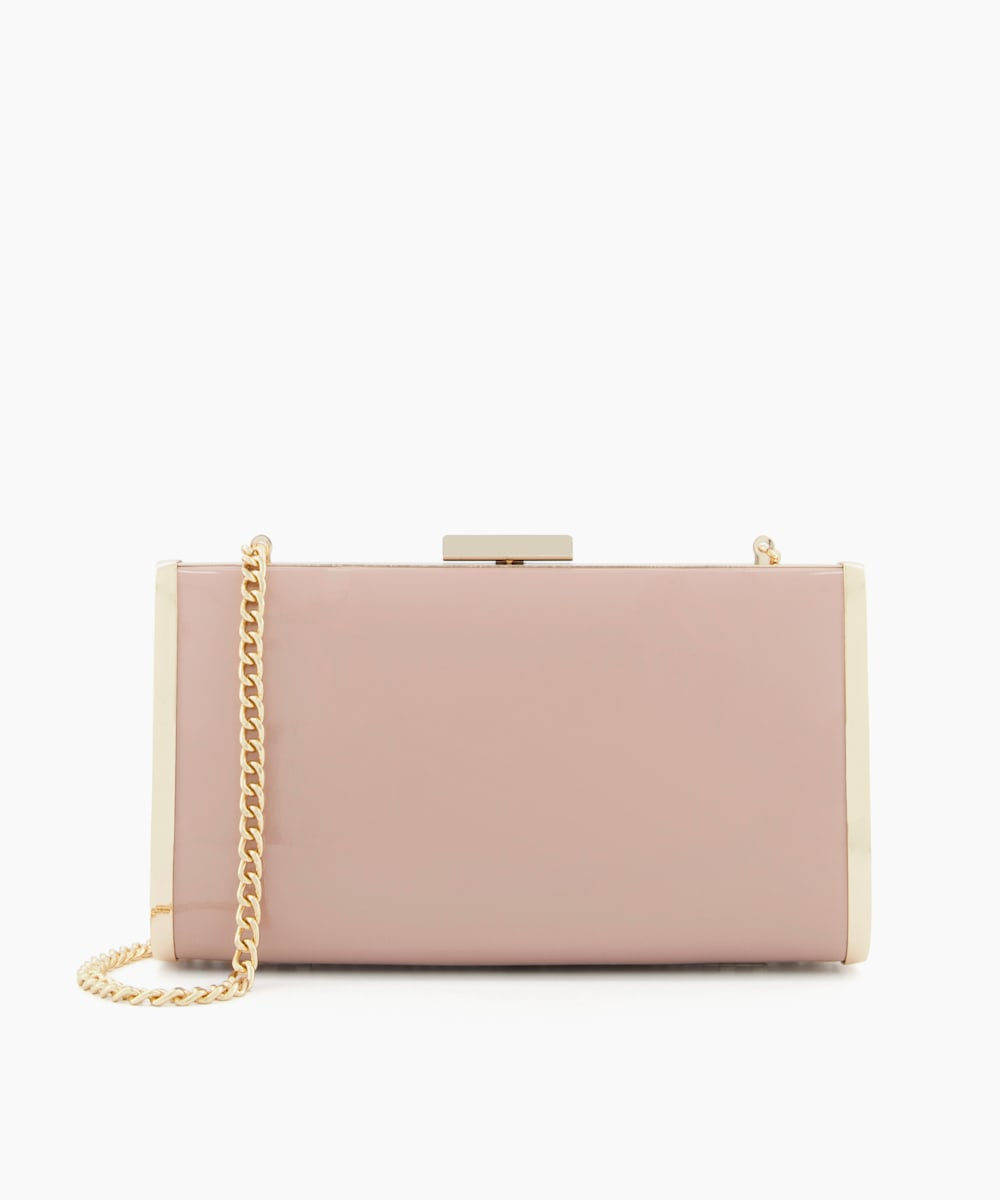 Hard Case Clutch Bag