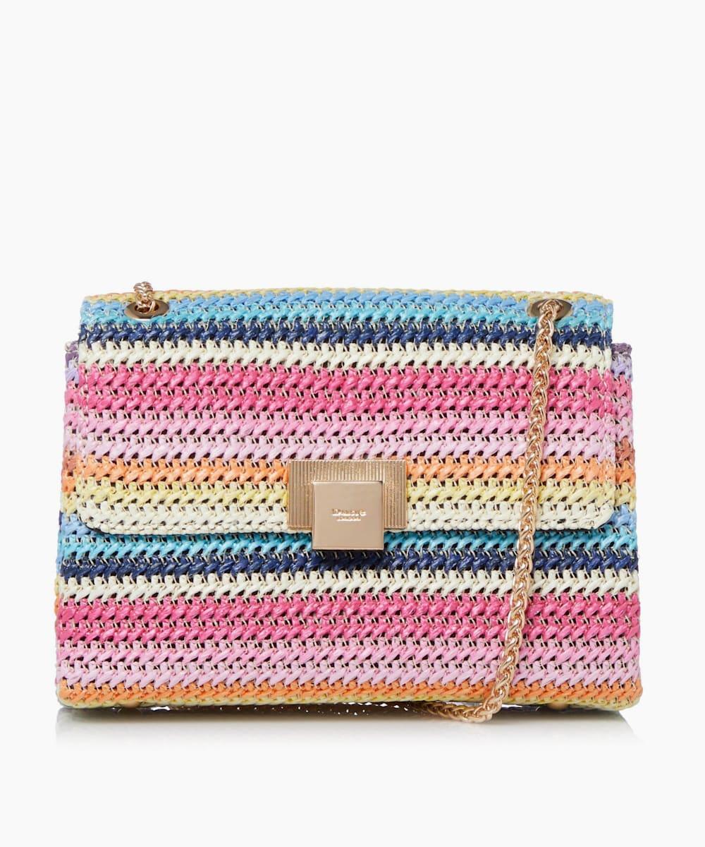 Mini Raffia Shoulder Bag