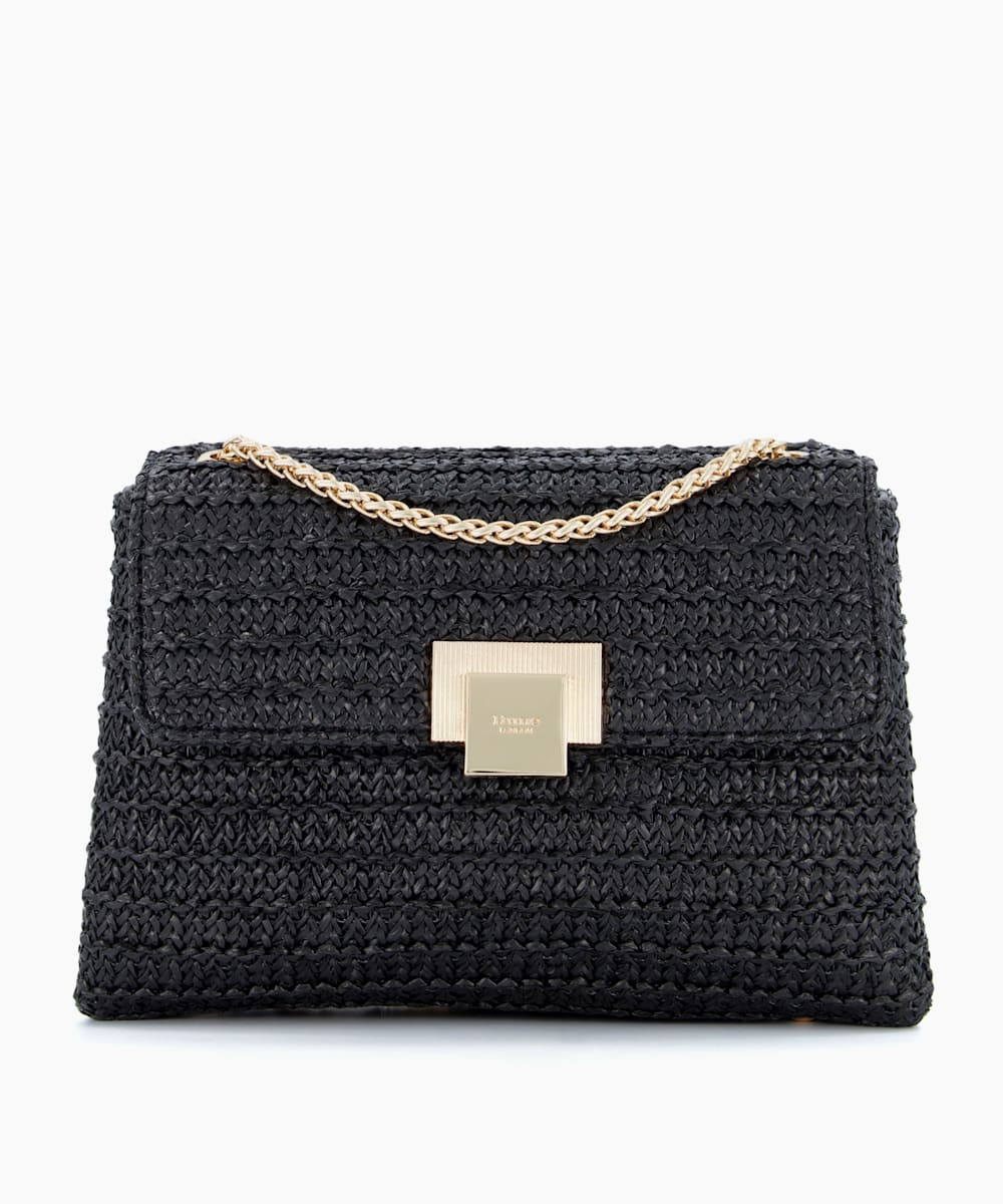 Mini Raffia Shoulder Bag