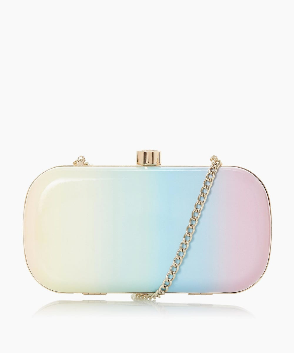 Pastel Ombre Rainbow Material Clutch Bag