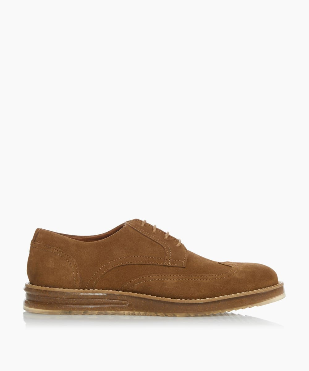 Casual Cork Wedge Lace Up Brogues