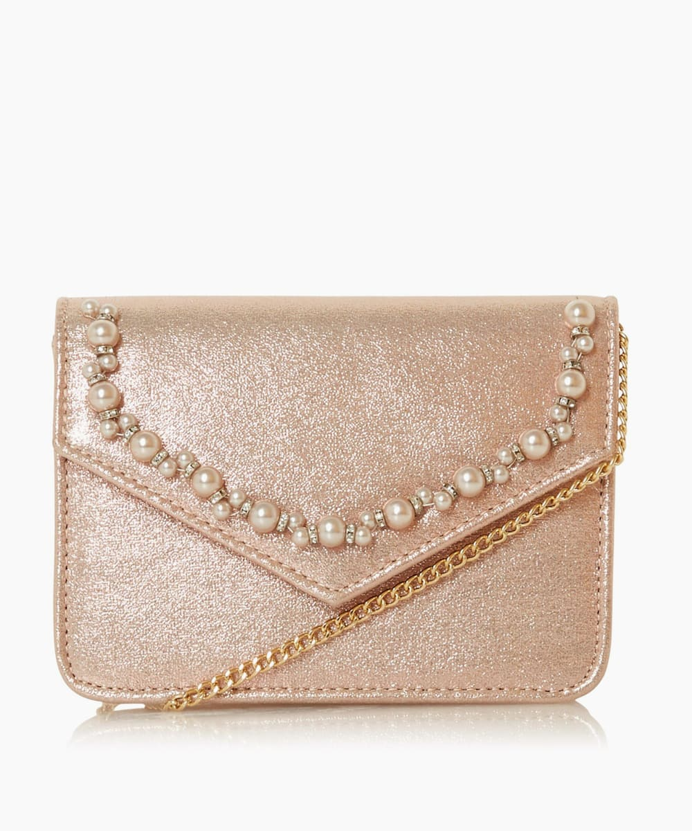 Trimmed Clutch Bag