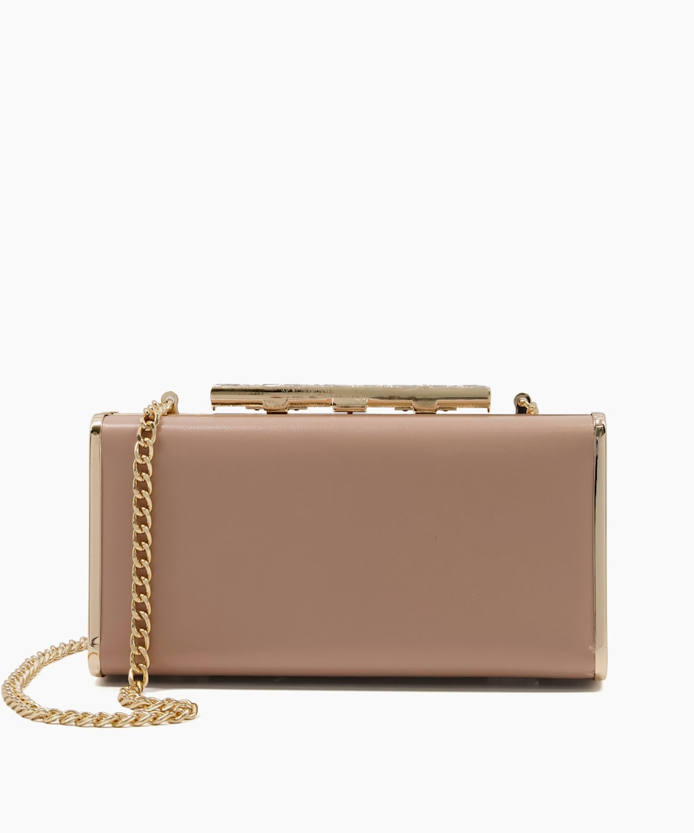 Diamante Clasp Clutch Bag