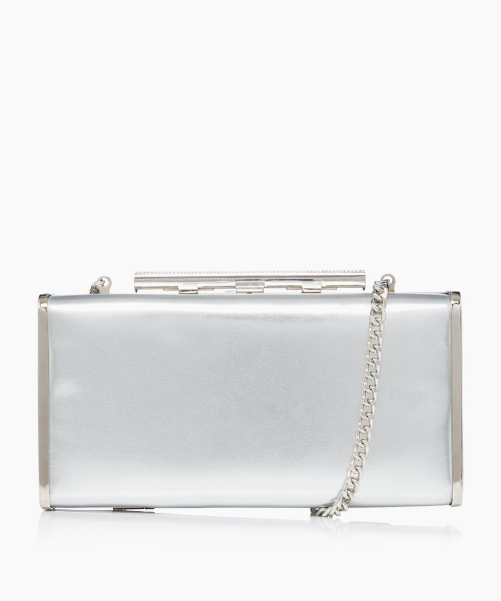 Diamante Clasp Clutch Bag