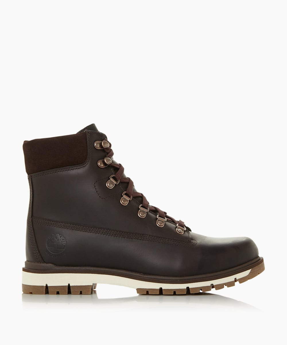 Contrast Ankle Lace Up Boots