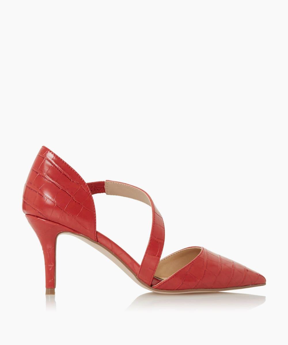Cross Strap Court Shoes