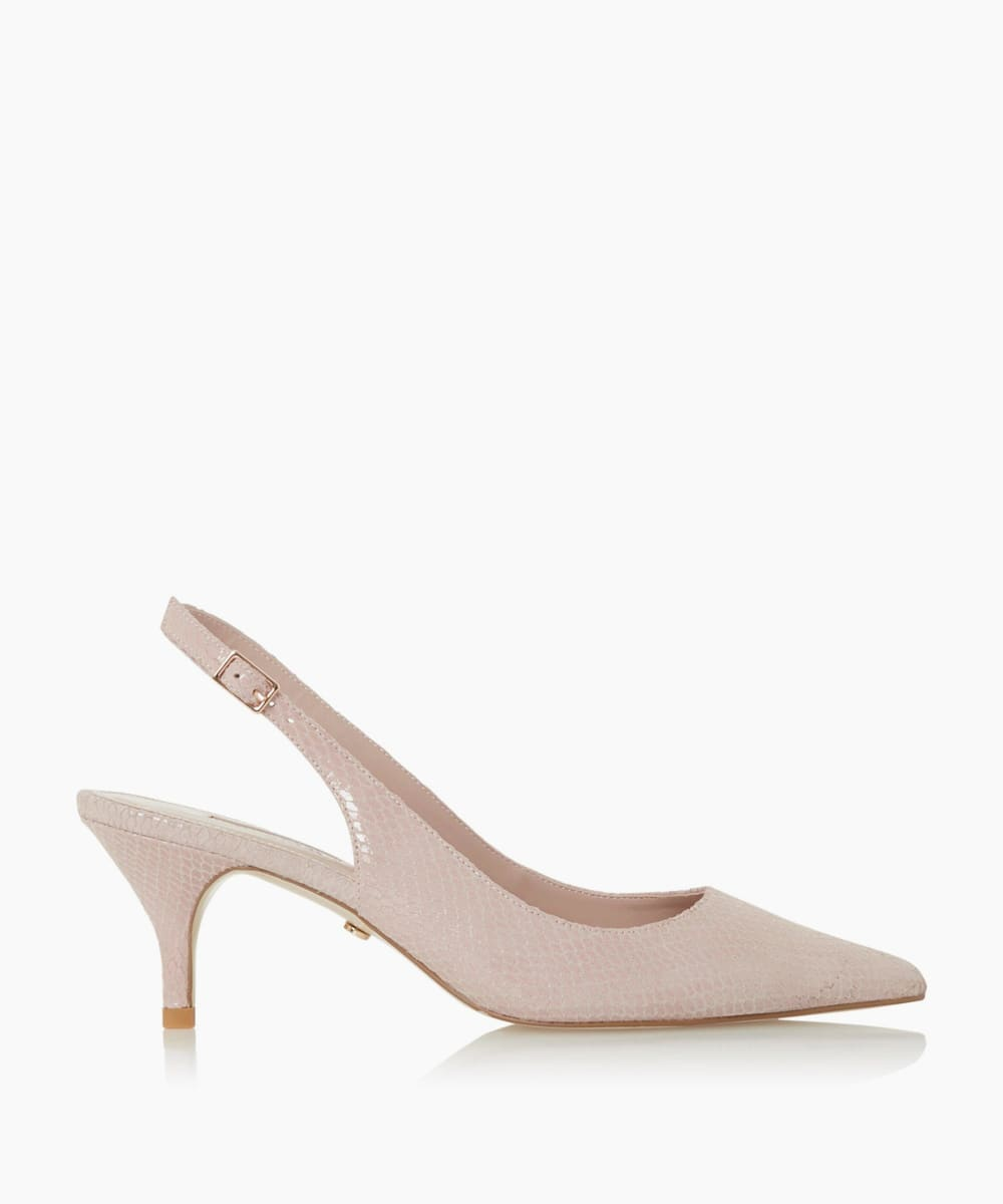 Pointed Toe Slingback Court Shoes