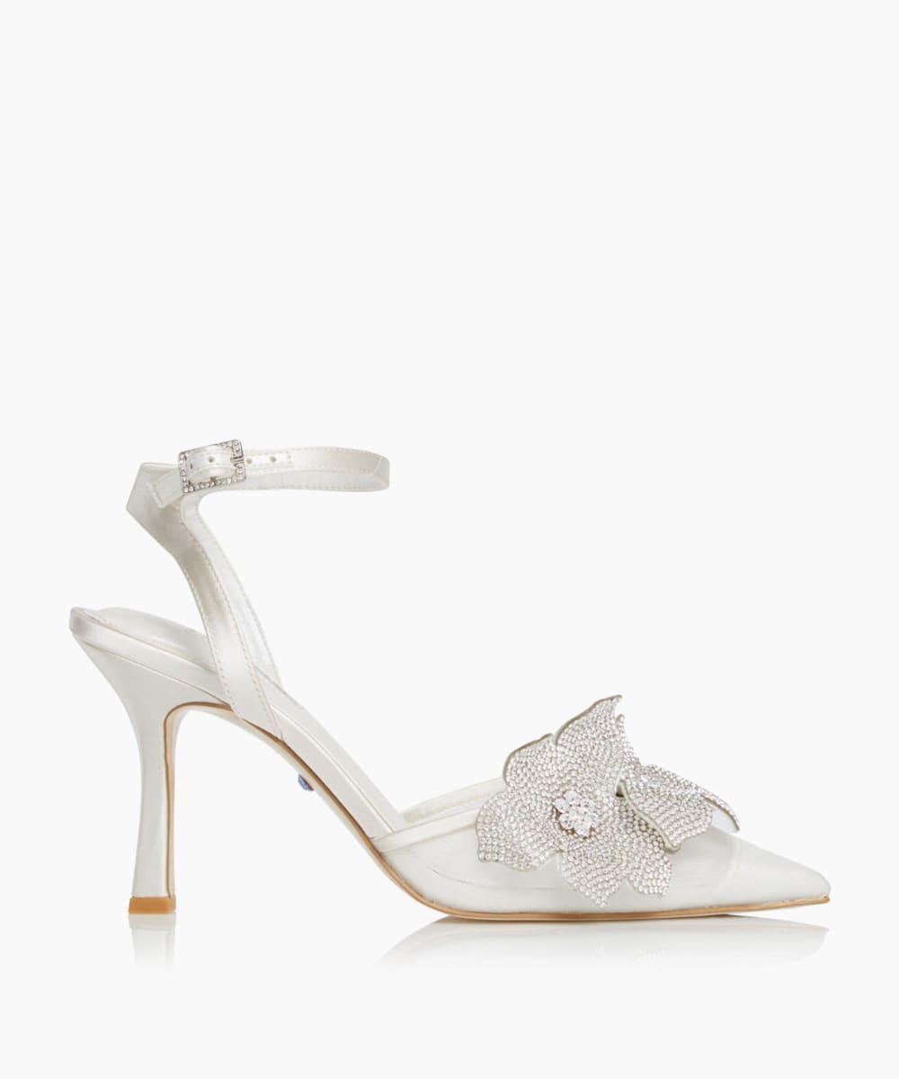 Diamante Flower Heels