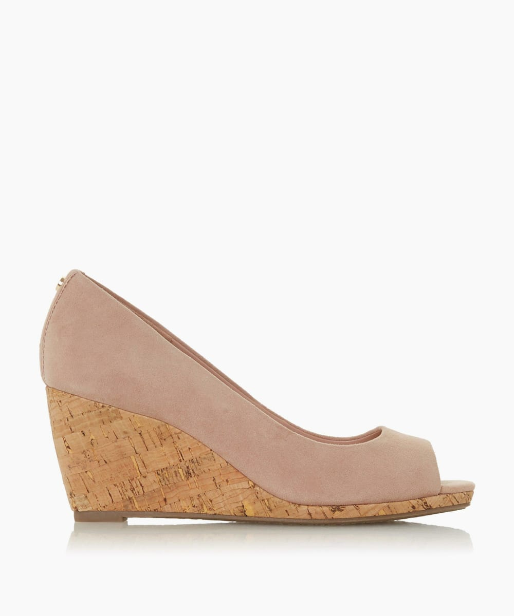 Peep Toe Cork Wedge Sandals