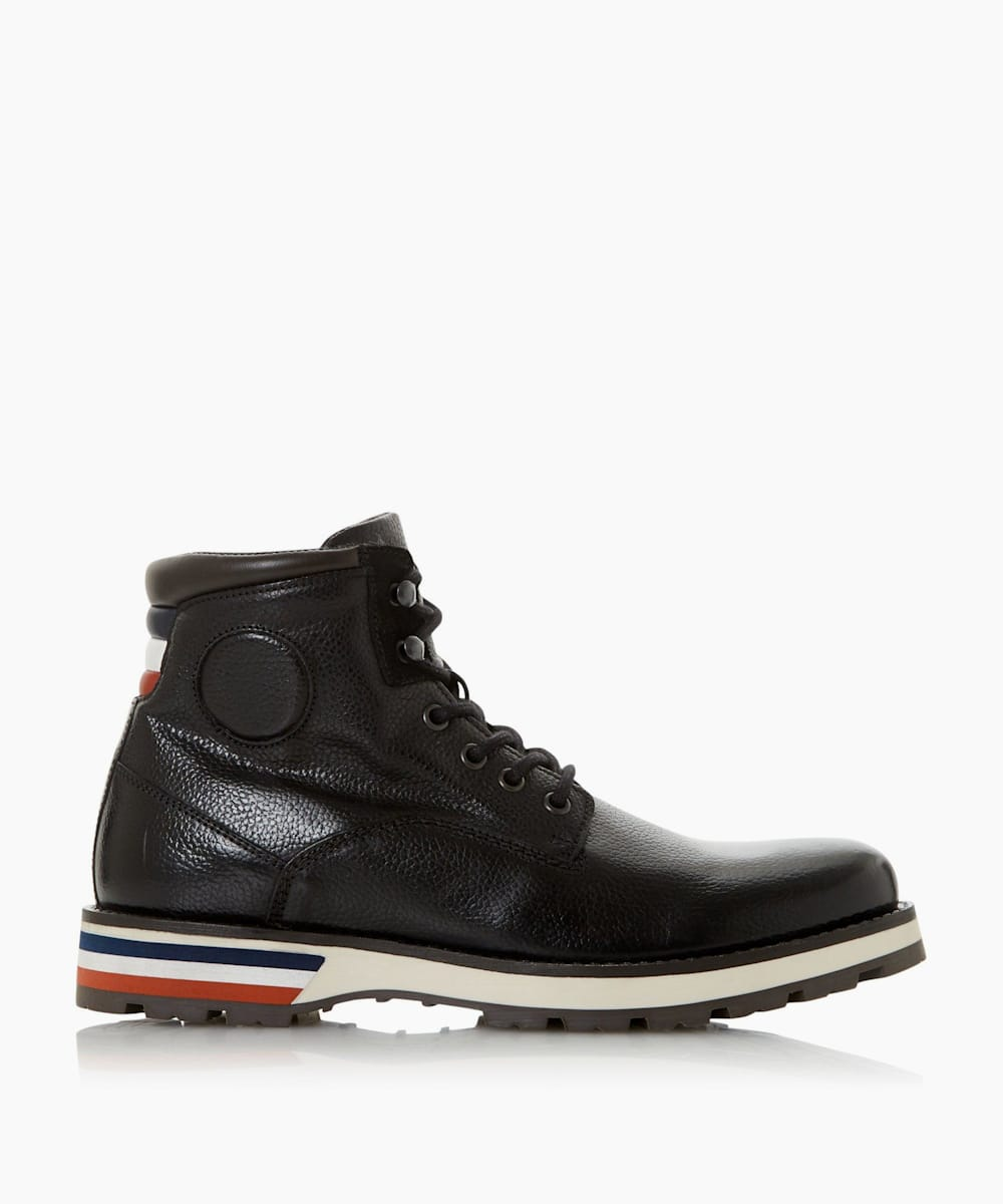Contrast Sole Hiker Boots