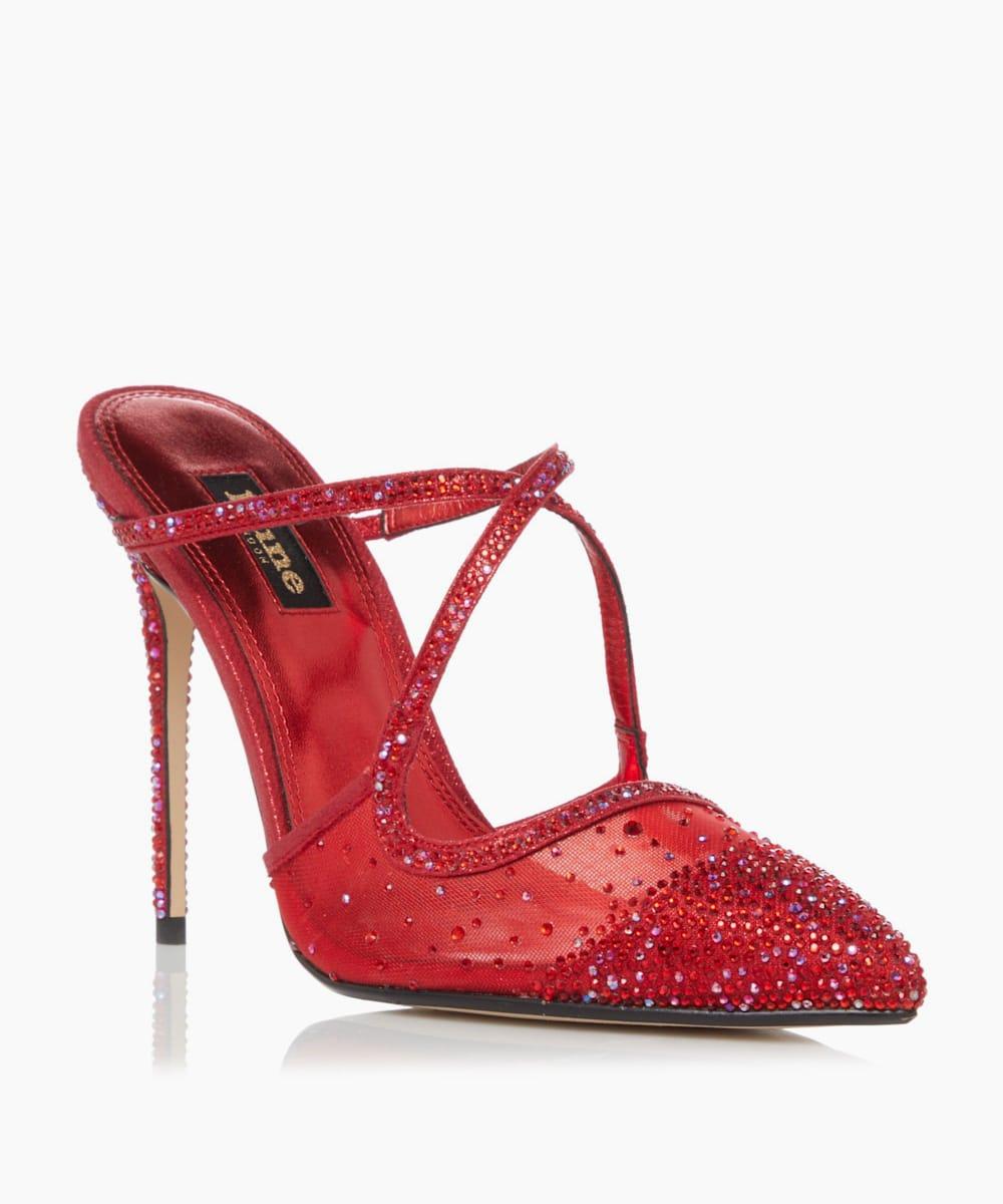 Embellished High Heel Court Shoes
