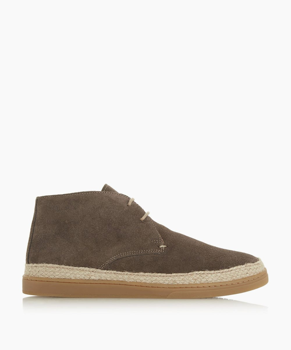 Suede Espadrille Chukka Boots