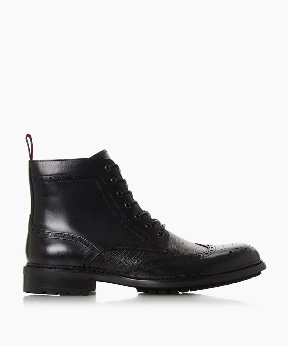 Lace Up Brogue Boots