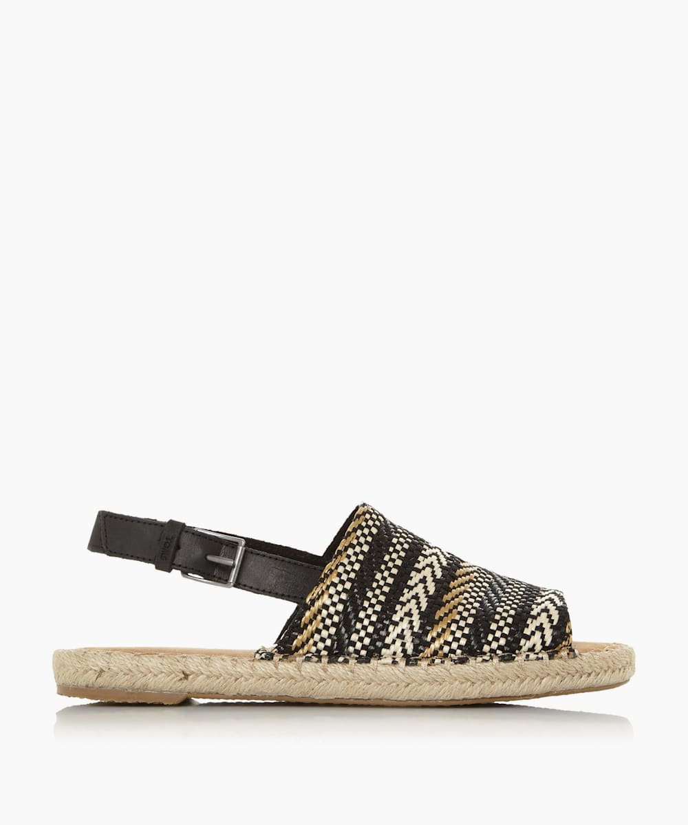 Slingback Woven Mule Sandals
