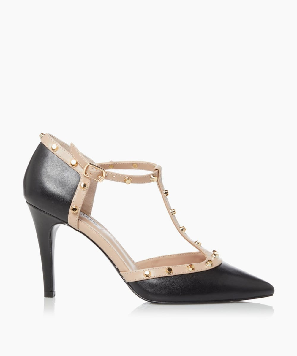 Studded Court Shoe
