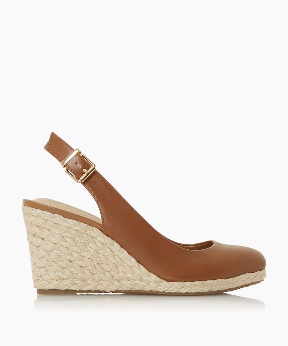 Slingback High Espadrille Wedge Shoes