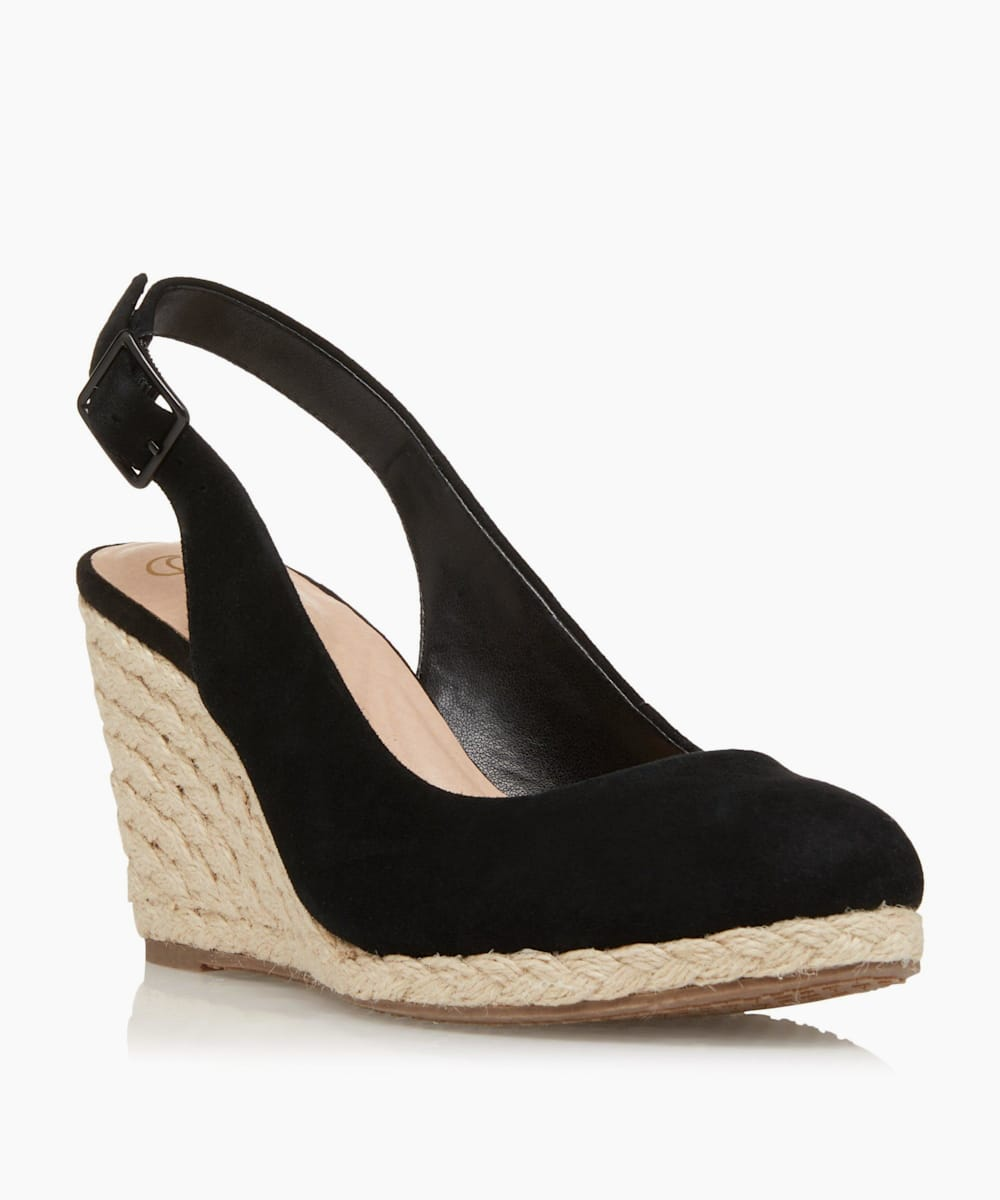 Slingback High Espadrille Wedge Shoes