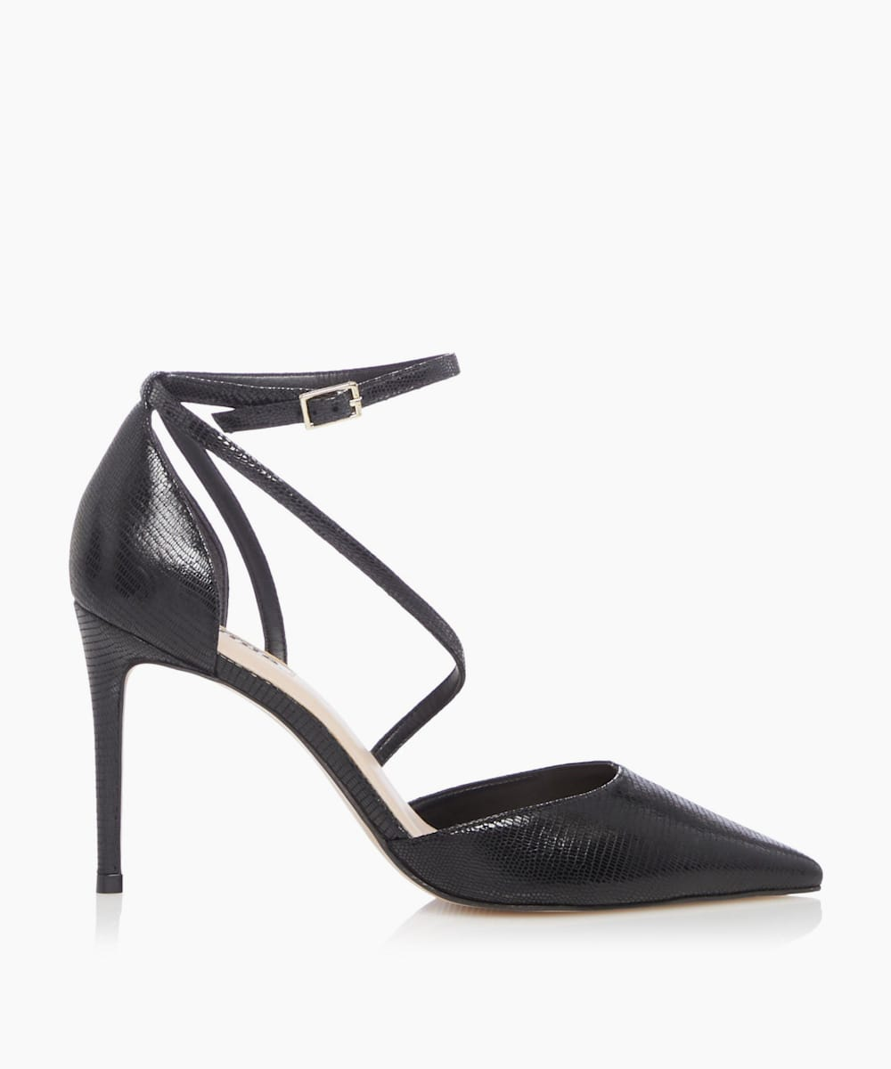 Cross Strap Court Shoes