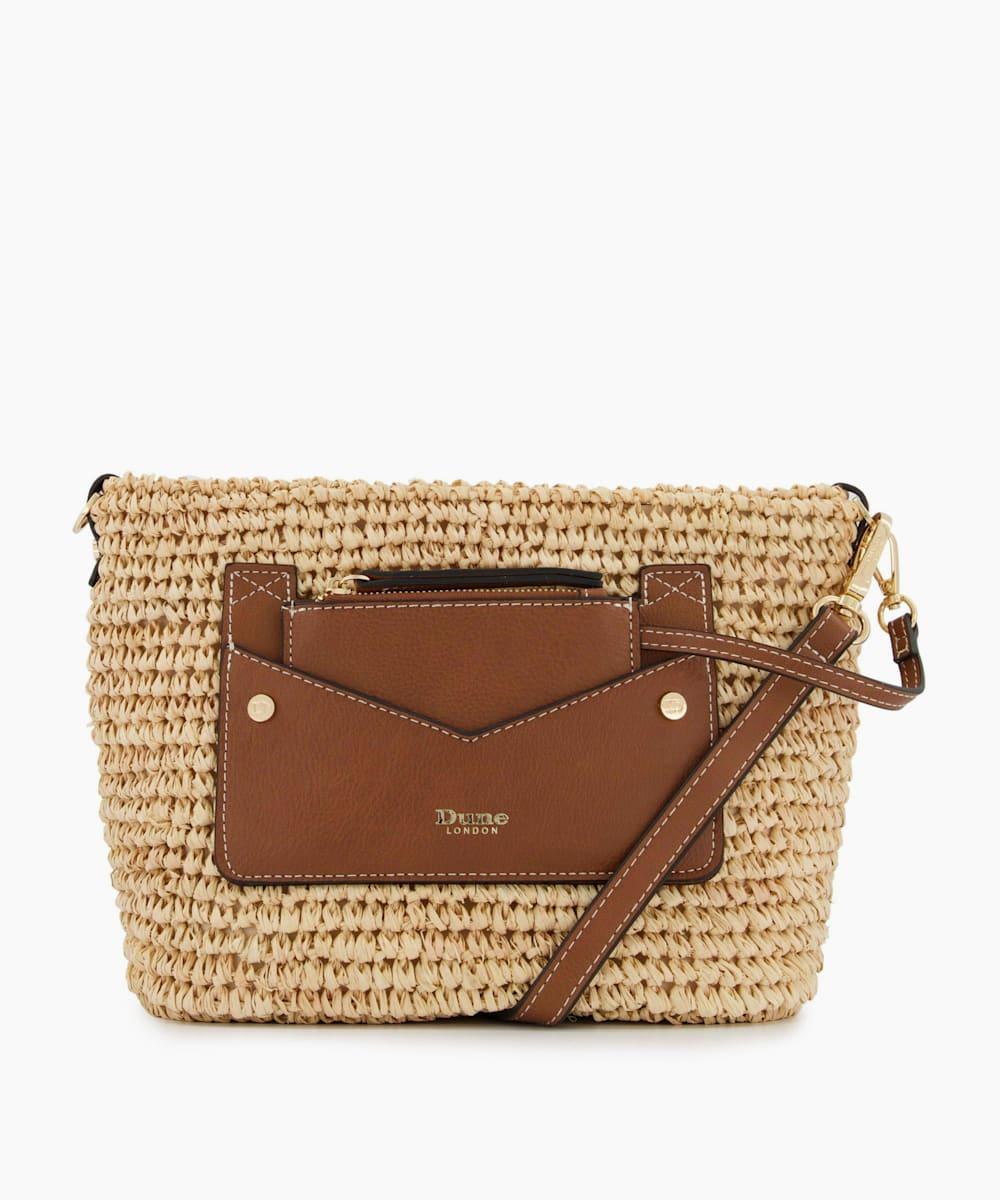 Small Raffia Crossbody Bag