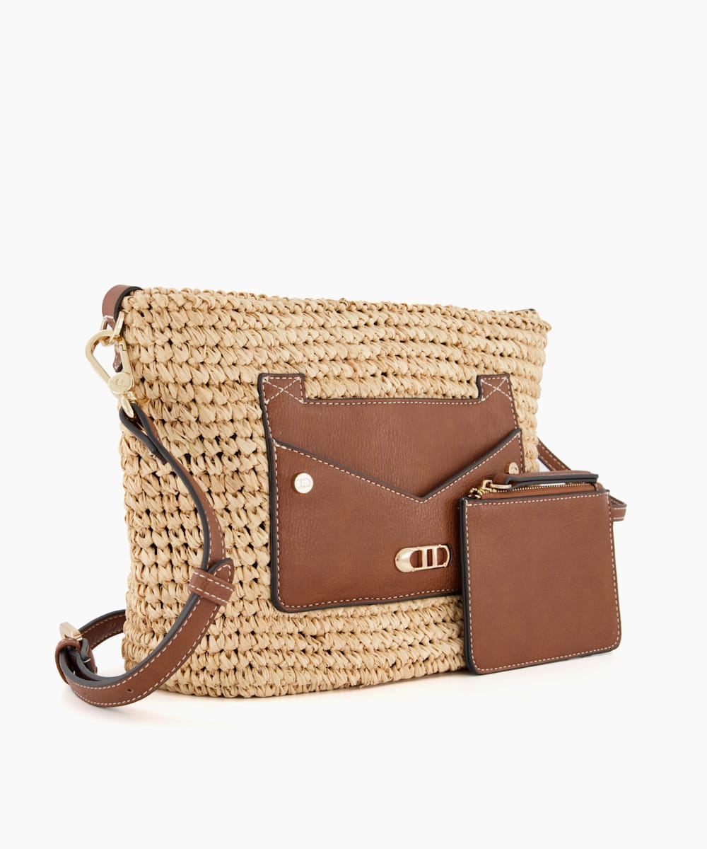 Small Raffia Crossbody Bag