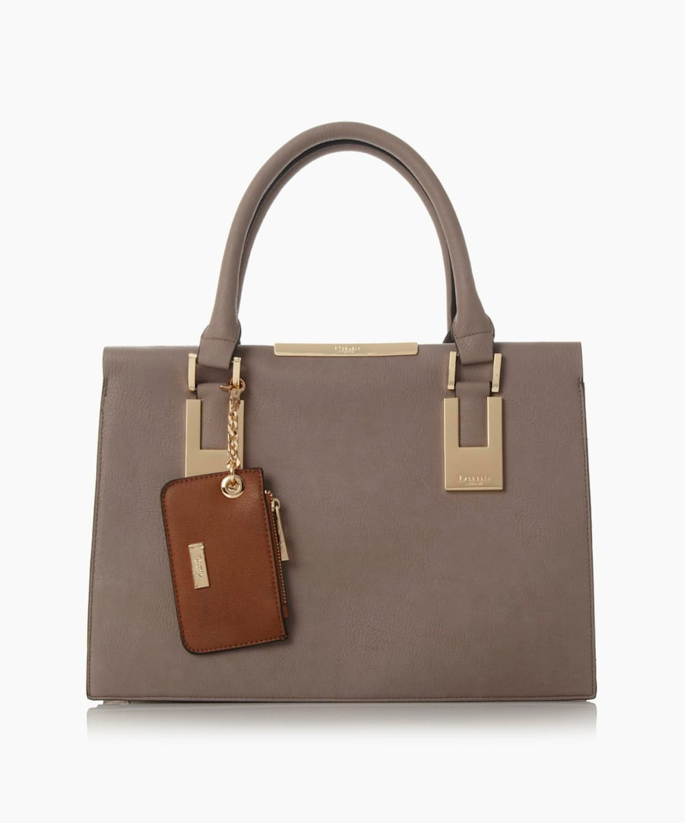 Structured Top Handle Handbag