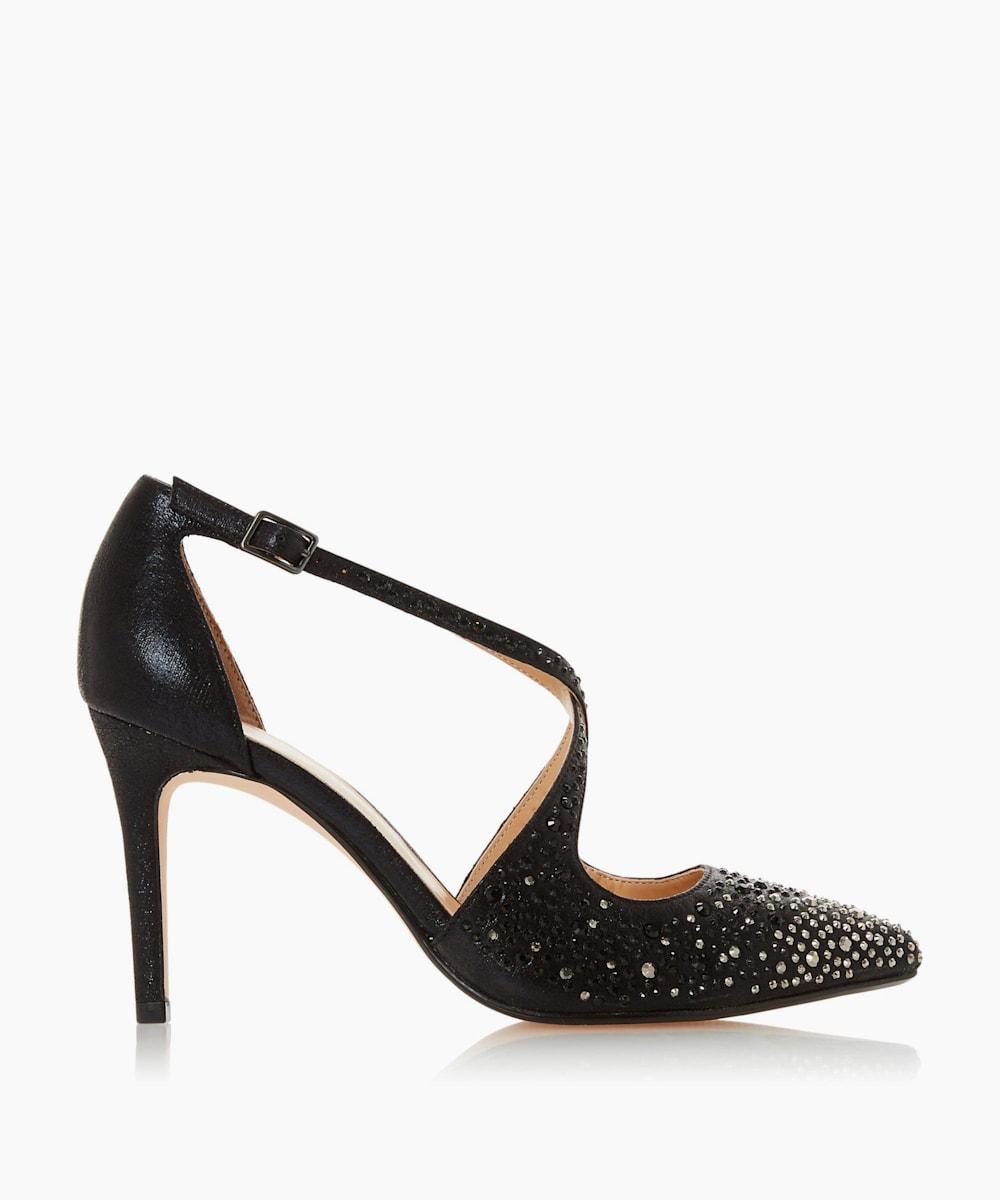 Black Beaded Stiletto Heel