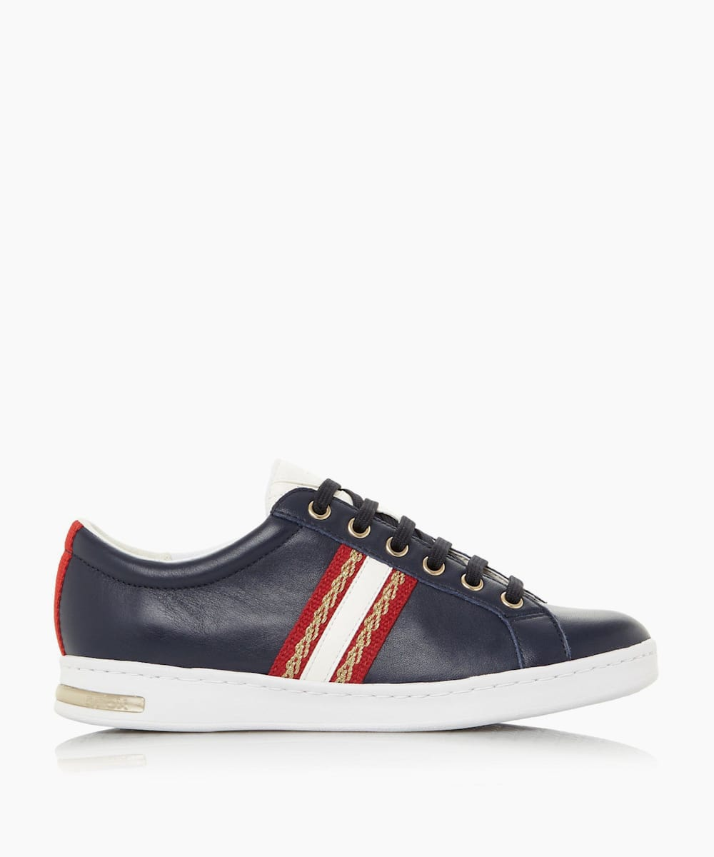 Metallic Snake Suede Trainers