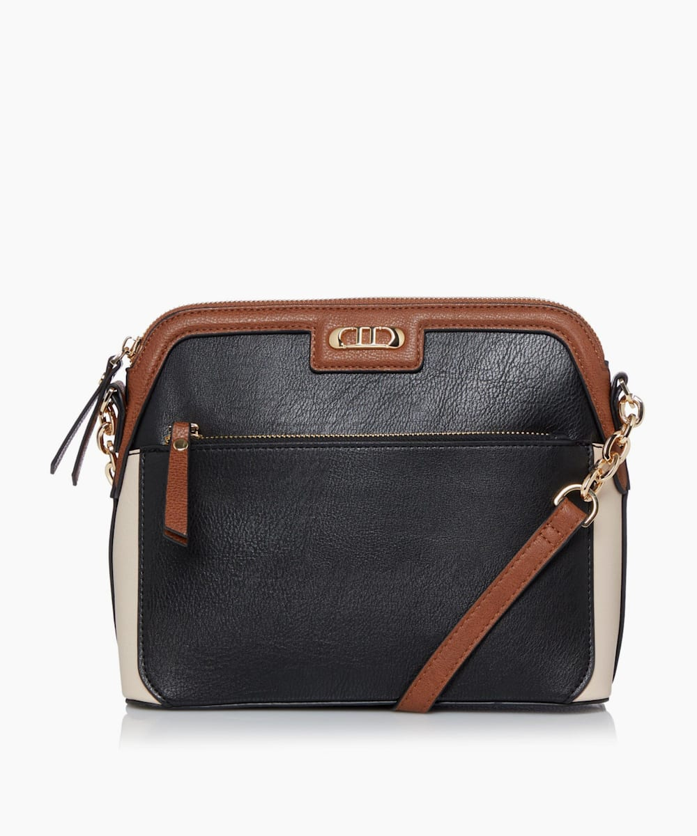 Colour Block Cross-body Casual Bag
