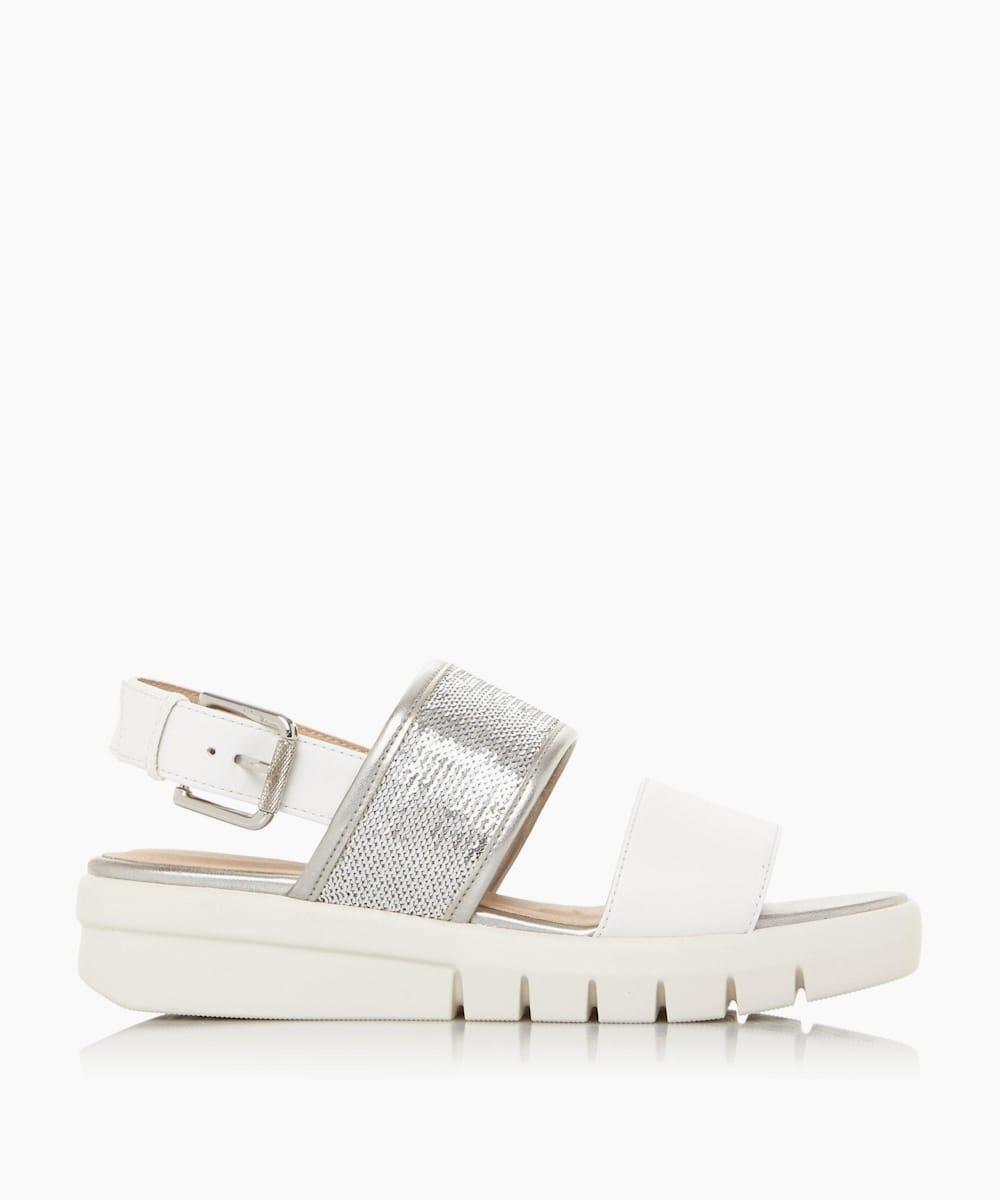 Sequin Strap Slingback Sandals