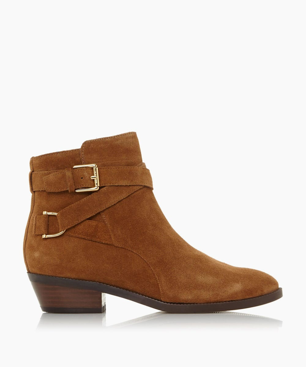Two Buckle Strap Ankle Boots