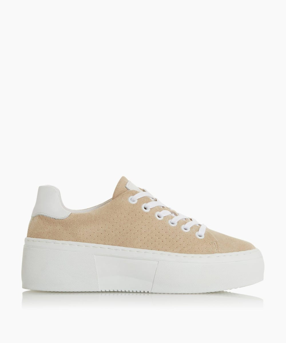 Lace Up Flatform Trainers